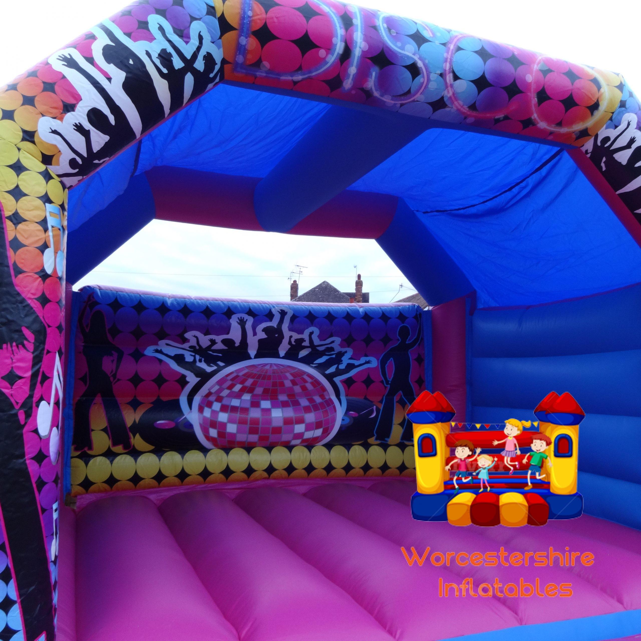 Disco adult bouncy castle