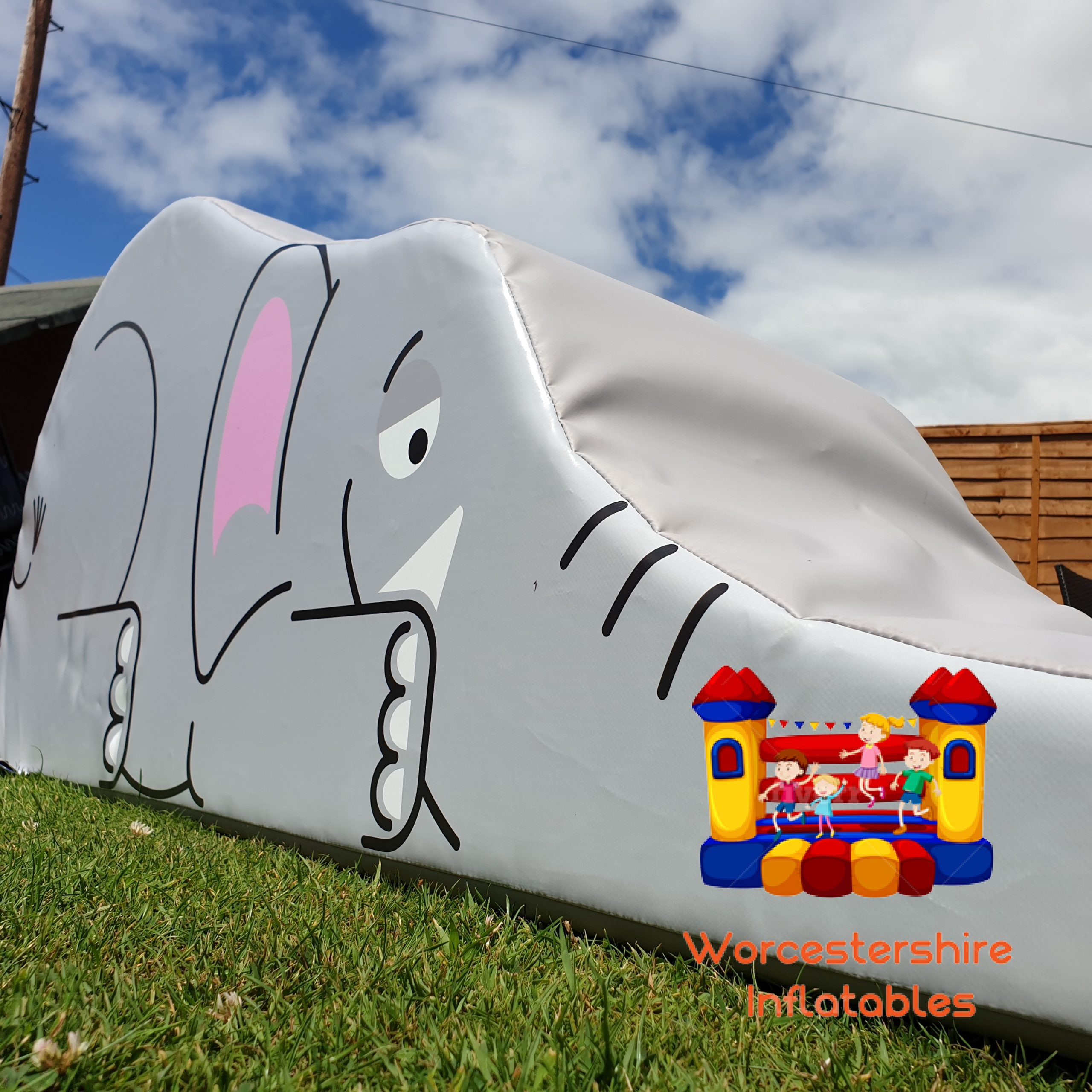 Elephant Soft Play Slide - Worcestershire Inflatables